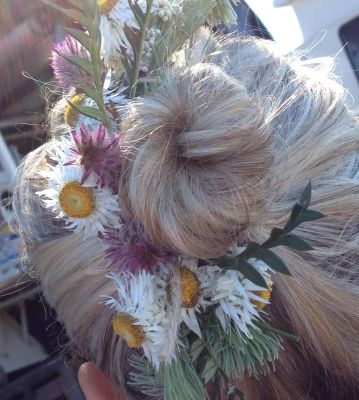 Hair piece for races